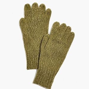 MADEWELL WOOL KNIT TEXTING GLOVES GREEN OS NWT